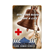 Red Cross Bell Vintage Metal Sign Pasttime Signs