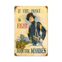 Join The Marines Vintage Metal Sign Pasttime Signs