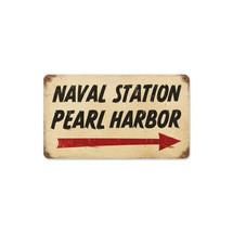 Pearl Harbor Naval Vintage Metal Sign Pasttime Signs