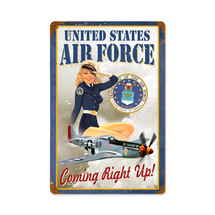 US Air Force Girl Vintage Metal Sign Pasttime Signs