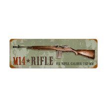 M14 Rifle Vintage Metal Sign Pasttime Signs PT-V958