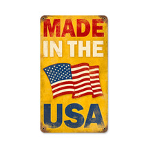 Made in the USA Vintage Metal Sign Pasttime Signs