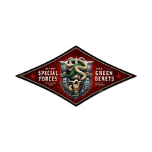 Special Forces Diamond Metal Sign Pasttime Signs