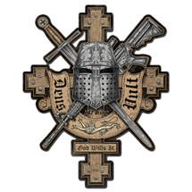 Deus Vult Custom Metal Shape Pasttime Signs