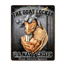 USN Goat Locker Pasttime Signs
