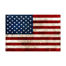 USA Flag Metal Sign Pasttime Signs
