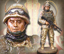 "Sculpted Figures ""American Soldier - Miniature"" Garman Sculptures"