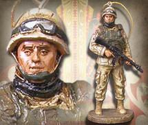 "Sculpted Figures ""American Soldier - Miniature"" Garman Sculptures"