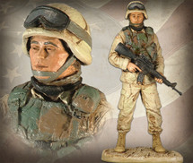 "Sculpted Figures ""American Soldier Female - Handpainted"" Garman Sculptures"