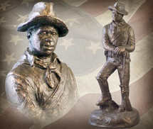 "Sculpted Figures ""Buffalo Soldier Corporal "" Garman Sculptures"