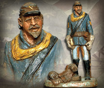 "Sculpted Figures ""Horse Soldier - Handpainted"" Garman Sculptures"
