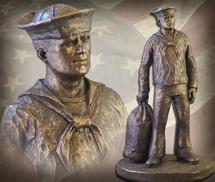 """Sculpted Figures """"Shore Leave"""" Garman Sculptures"""