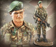 "Sculpted Figures ""Special Forces: Green Camouflage Ì_å Handpainted"" Garman Sculptures GAR-MG2161"