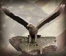 """Sculpted Figures """"Wings of Freedom - Patina"""" Garman Sculptures"""
