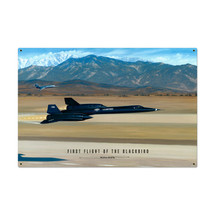 """""""Flight of the Blackbird"""" Metal Sign Pasttime Signs"""