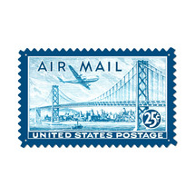 """Air Mail San Fran"" Custom Metal Shape Pasttime Signs"