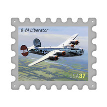 """B24 Liberator"" Stamp Metal Sign Pasttime Signs"