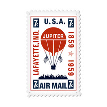 """Air Mail Balloon"" Custom Metal Shape Pasttime Signs"