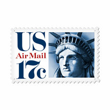 """Air Mail Liberty"" Custom Metal Shape Pasttime Signs"