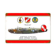 """""""B-24 Liberator Witchcraft"""" Vintage Metal Sign Pasttime Signs"""