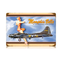 """Memphis Belle"" Vintage Metal Sign Pasttime Signs"