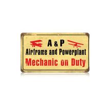 """Airframe Mechanic"" Vintage Metal Sign Pasttime Signs"