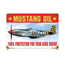 """Mustang Oil"" Vintage Metal Sign Pasttime Signs"