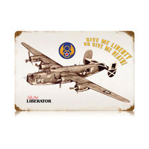 """Liberator"" Vintage Metal Sign Pasttime Signs"