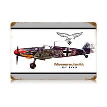 """BF-109 Messerschmitt"" Vintage Metal Sign Pasttime Signs"