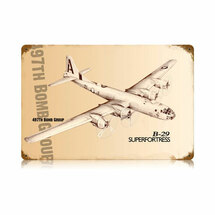 """B-29 Superfortress"" Vintage Metal Sign Pasttime Signs"