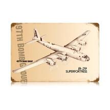 """B-29 Superfortress"" Vintage Metal Sign Pasttime Signs"