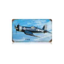 """F4U Corsair"" Vintage Metal Sign Pasttime Signs"
