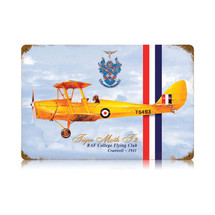 """Tiger Moth"" Vintage Metal Sign Pasttime Signs"