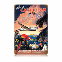 """""""Caribbean"""" Vintage Metal Sign Pasttime Signs"""