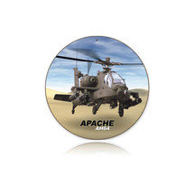 """Apache"" Round Metal Sign Pasttime Signs"
