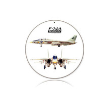 """""""F-14 Tomcat"""" Round Metal Sign Pasttime Signs"""