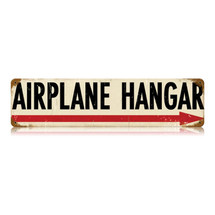 """Airplane Hangar"" Vintage Metal Sign Pasttime Signs"