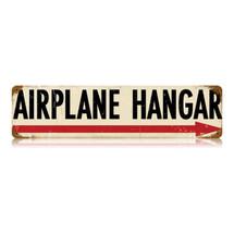 """Airplane Hangar"" Vintage Metal Sign Pasttime Signs"