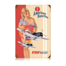"""F6F Hellcat"" Vintage Metal Sign Pasttime Signs"