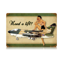 """Need A Lift Corsair"" Vintage Metal Sign Pasttime Signs"