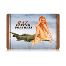 """B-17 redhead"" Vintage Metal Sign Pasttime Signs"