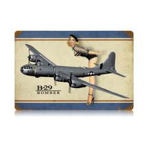 """B-29 Bomber legs"" Vintage Metal Sign Pasttime Signs"