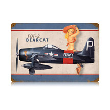 """F8F Bearcat"" Vintage Metal Sign Pasttime Signs"