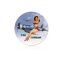 """Corsair Pinup"" Vintage Metal Sign Pasttime Signs"