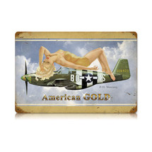 """American Gold"" Vintage Metal Sign Pasttime Signs"