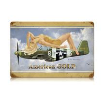 """American Gold"" Vintage Metal Sign Pasttime Signs"