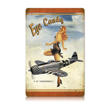 """P-47 Eye Candy"" Vintage Metal Sign Pasttime Signs"