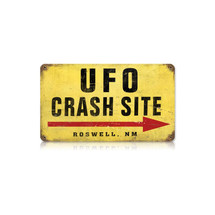 """UFO Crash Site"" Vintage Metal Sign Pasttime Signs"