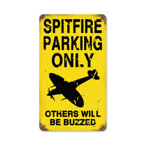 """Spitfire Parking"" Vintage Metal Sign Pasttime Signs"