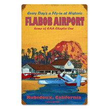 """Flabob Airport"" Vintage Metal Sign Pasttime Signs"